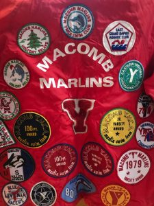 Old Swim Coat Filled with patches