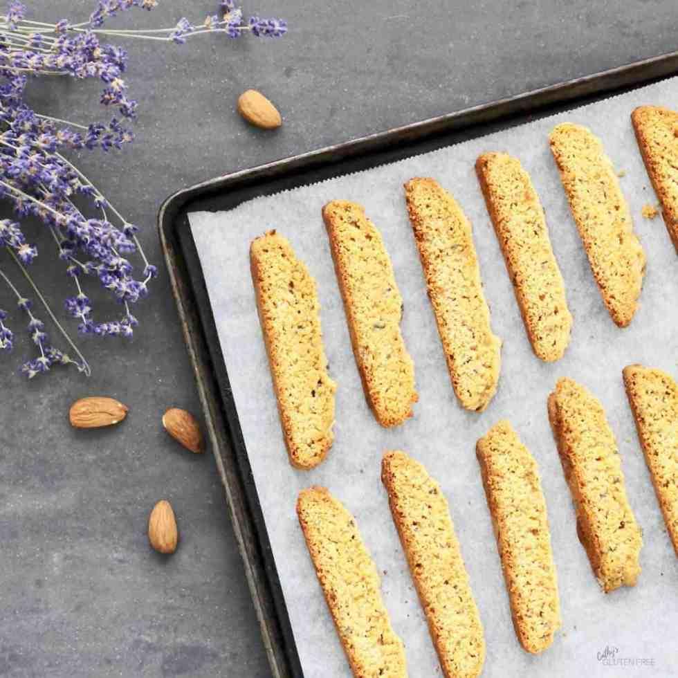 Gluten free Lavender Biscotti | Dairy free | Nightshade free CathysGlutenFree.com
