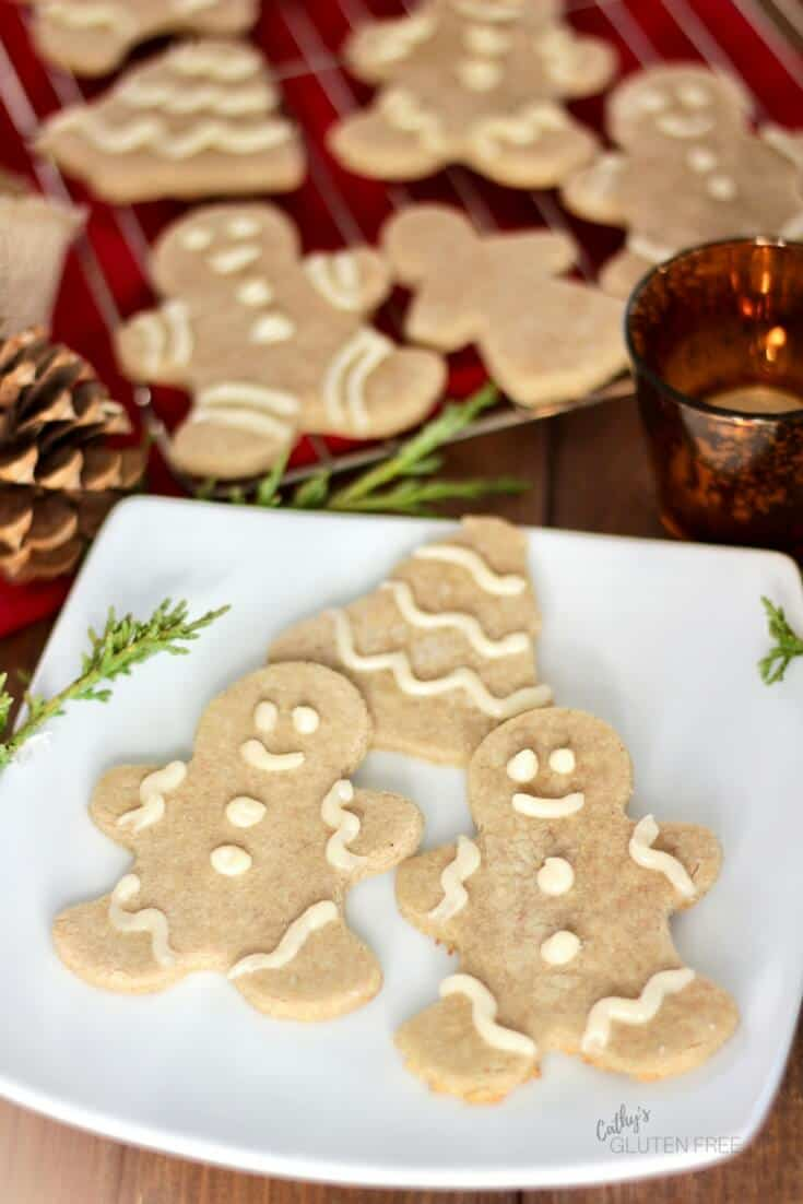 Grain Free Gingerbread Cookies | Free from gluten, dairy, corn, soy, nightshades | CathysGlutenFree.com