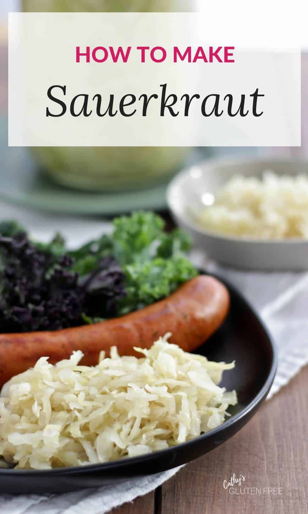 Learn how to make your own raw sauerkraut with two ingredients.