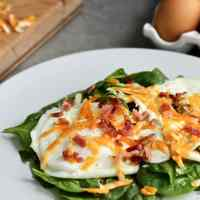 Easy Warm Spinach Salad with Egg