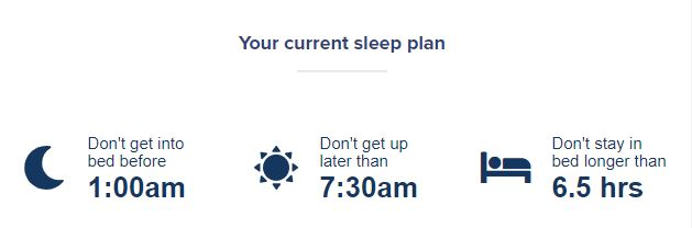 Sleepstation sleep plan