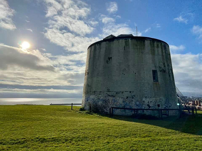Martello Tower on a hill
