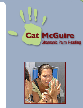 Shamanic palm reading.