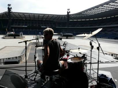 Sound check! Supporting Foo Fighters, Murrayfield Stadium, Edinburgh
