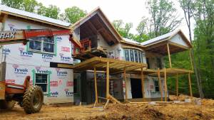 new custom home construction second story deck