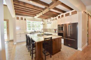 custom kitchen remodel wood beams
