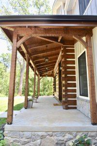 custom wooden porch construction