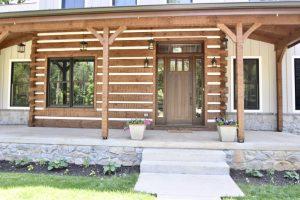 custom wooden entryway porch exterior