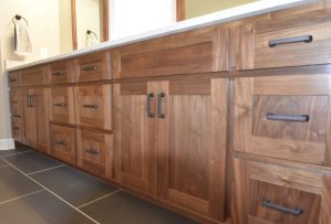 custom hard wood kitchen cabinetry
