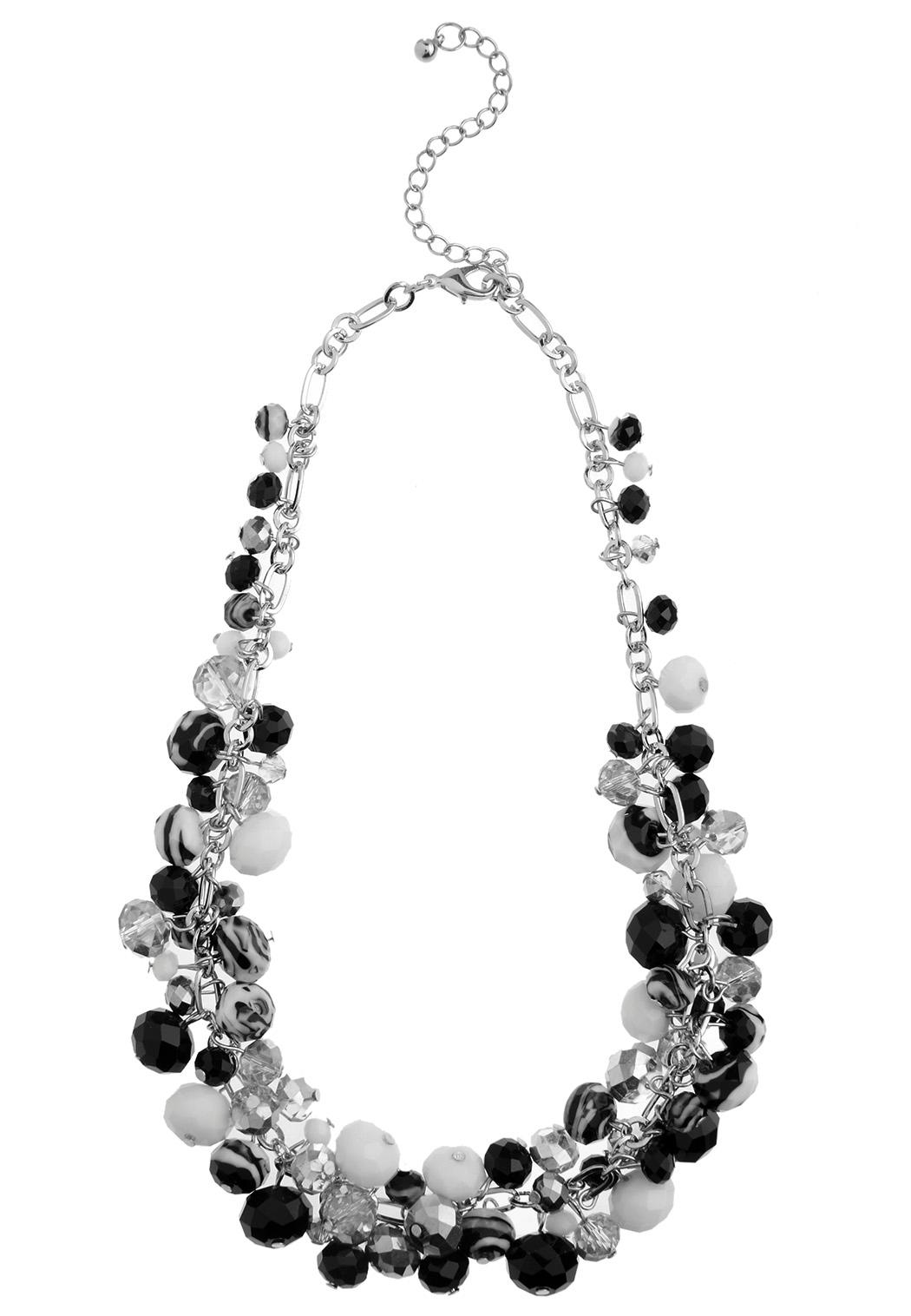 Glass Bead Cluster Necklace Necklaces Cato Fashions