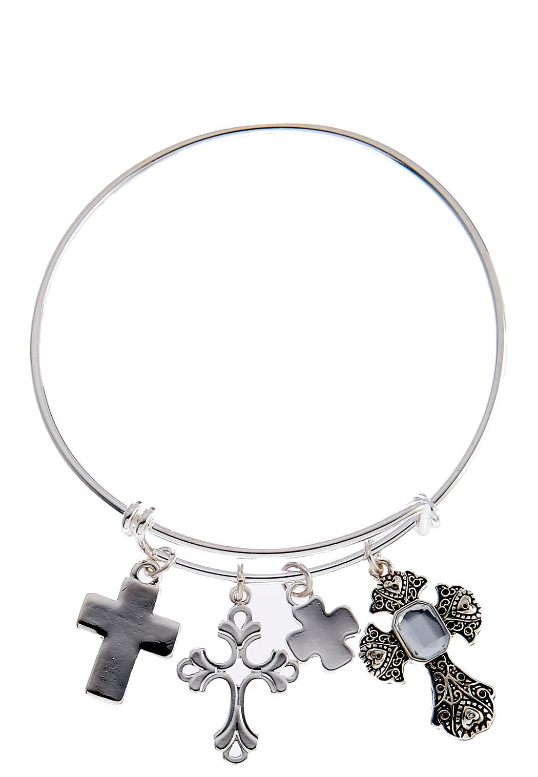 Wire Charm Cross Bracelet Bracelets Cato Fashions