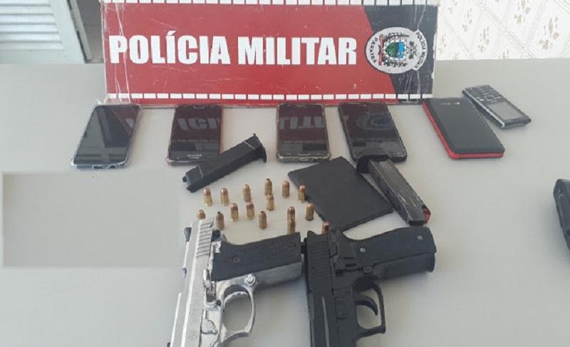 policia militar prende homem e apreende adolescente e arma em pombal