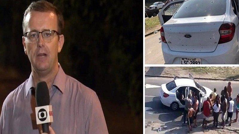 reporter da globo e ameacado de morte por fazer a reportagem do ataque do exercito onde resultou em um inocente morto