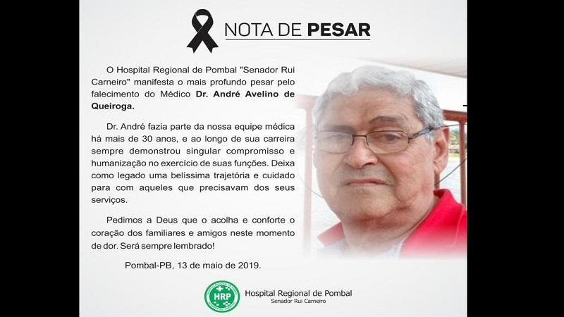 medico e ex vereador de pombal morre durante plantao no hospital regional