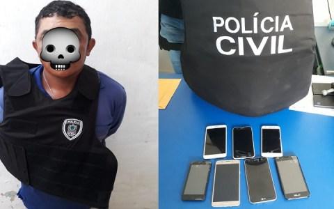 policia civil de catole do rocha e rn prendem acusado de roubo de celulares