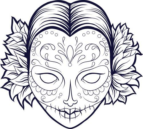 imagenes,catrinas,calaveras,mexicanas,colorear,15
