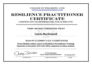 Coaching and training in resilience techniques