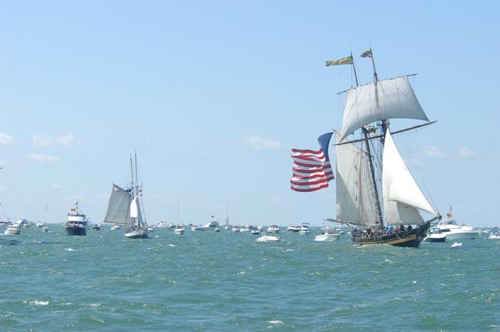 Tall Ships Reenactment Of Battle Of Lake Erie