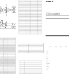 120h motor grader es version electrical system schematic 1998 caterpillar [ 4916 x 2995 Pixel ]