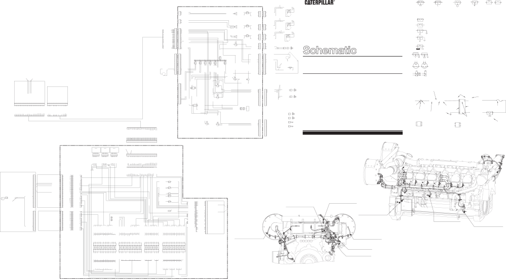 medium resolution of 3512b 3516b engines with premium wiring harness for marine electrical system