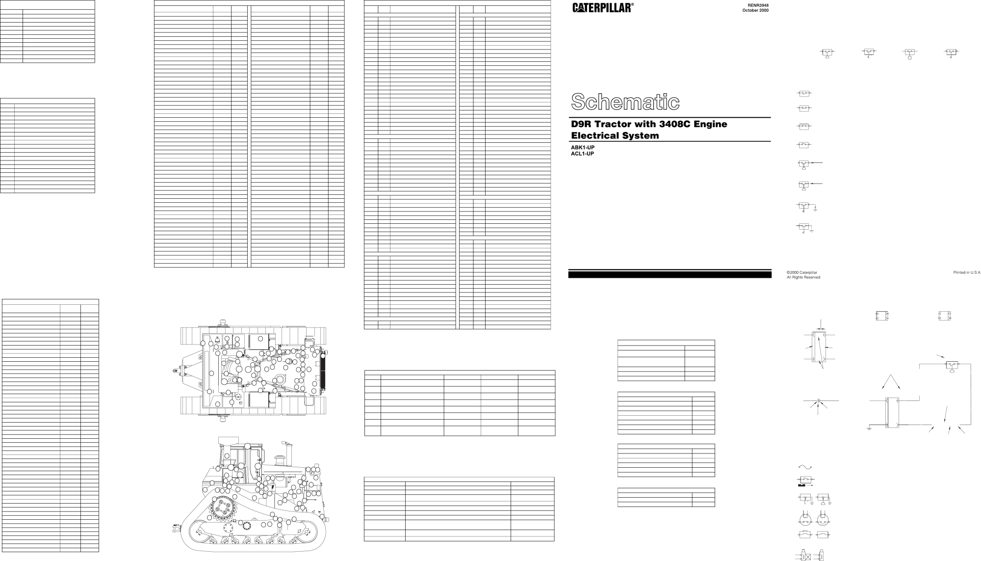 hight resolution of schematic d9r tract type tractor with 3408c engine electrical system