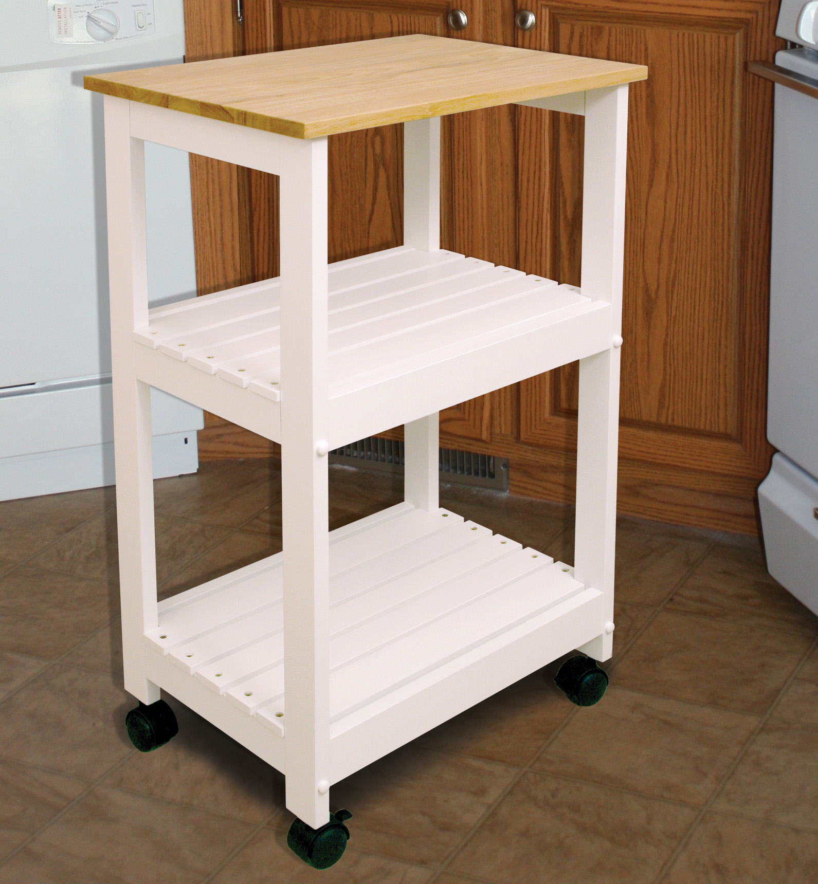 utility kitchen cart table counter height catskill craftsmen