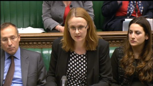 Cat Smith MP in the House of Commons