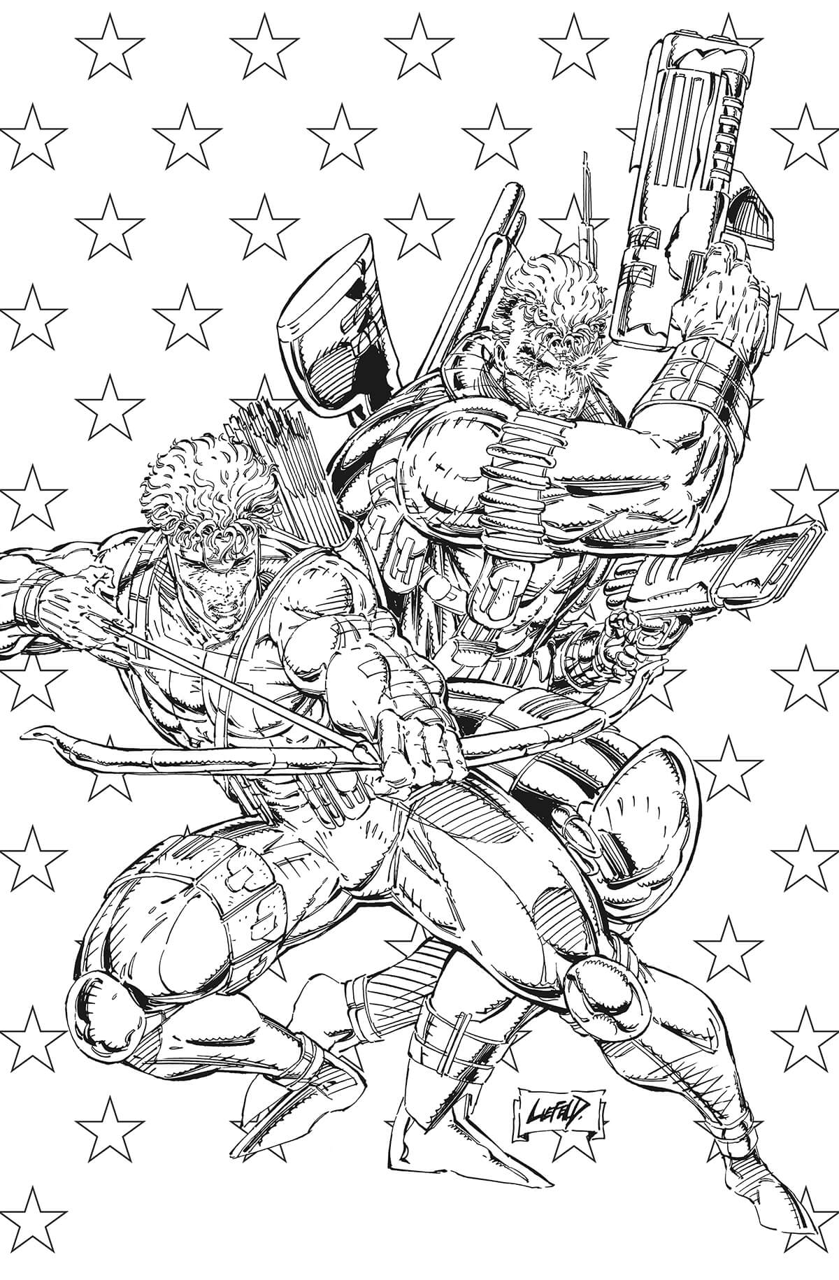 Wizard No. 10 Cover by Rob Liefeld