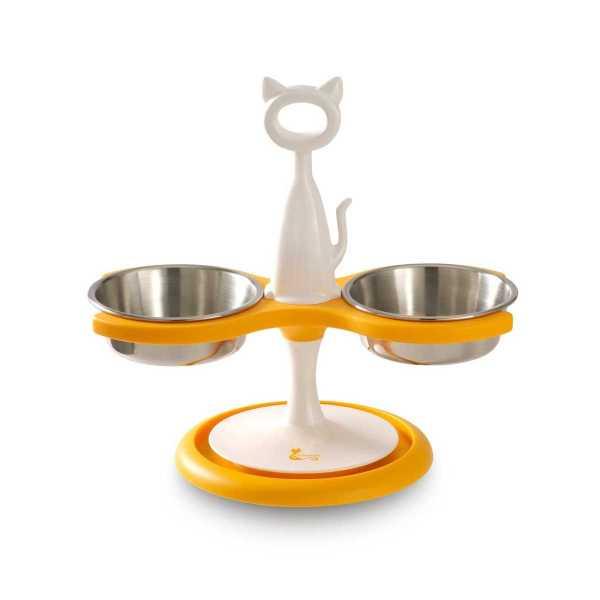 Multi-cat Raised Feeder - 2 Bowl