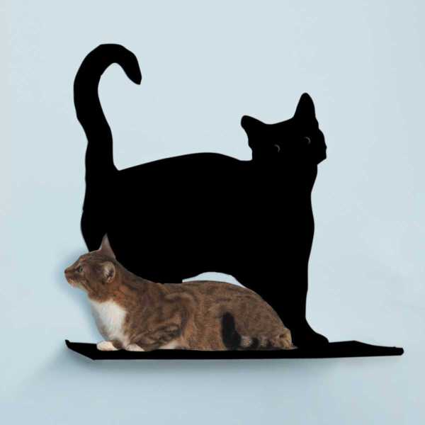 Cat Silhouette Shelf - Prance