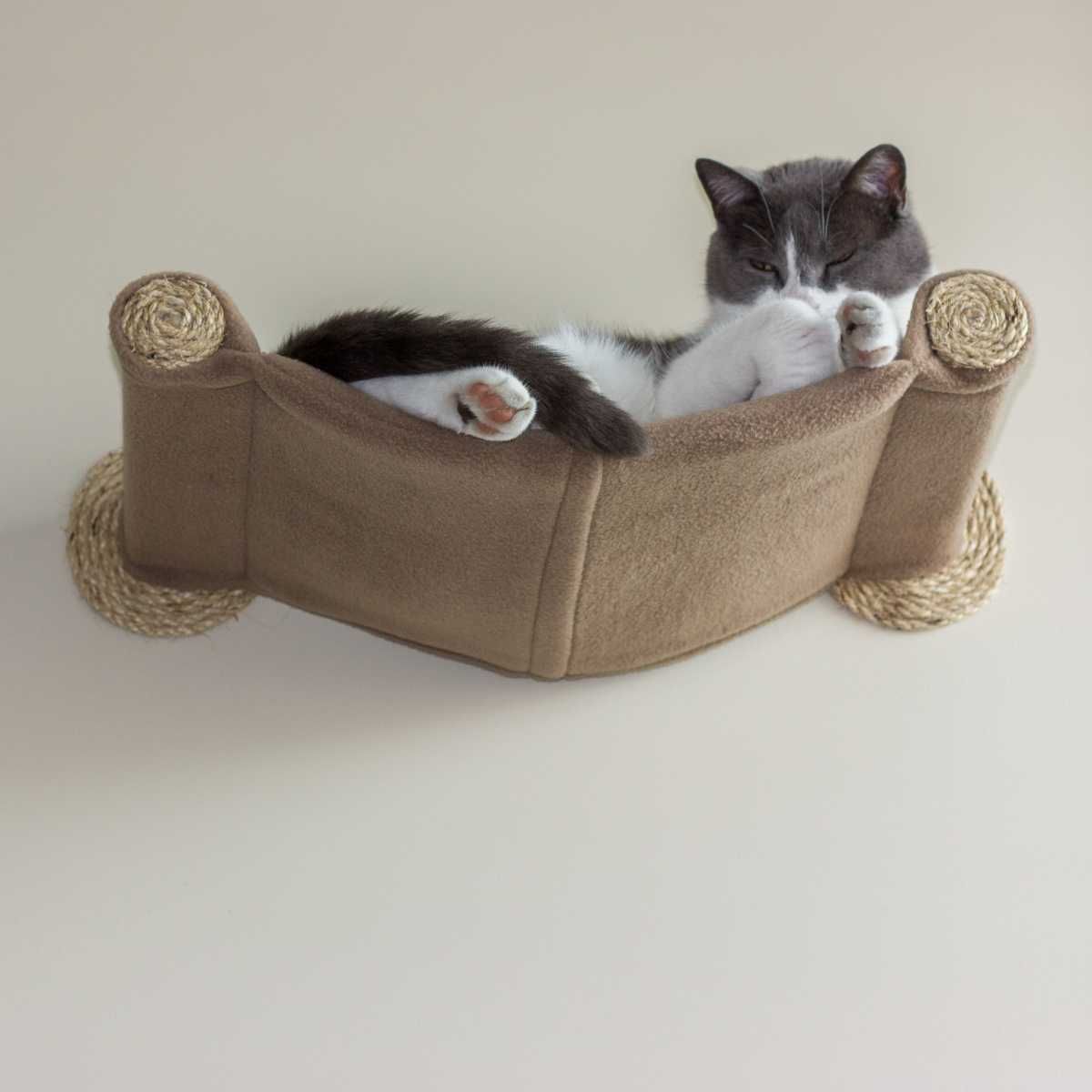 Cat Hammock Wall Mounted Cat Bed Tan Catsplay Superstore
