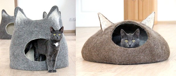 Cat Style Trend Alert Amazing Felted Wool Cat Cocoons