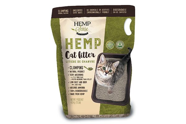 Hemp Cat Litter is made from 100-percent natural hemp stalks and provides superior clumping, low dust and absorbs ammonia odor. hempsense.net