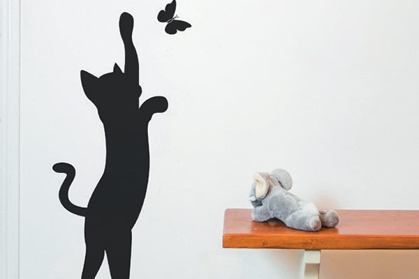 Nutmeg Wall Stickers black cat sticker.