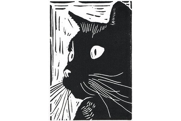 Little Ram Studio black cat print.