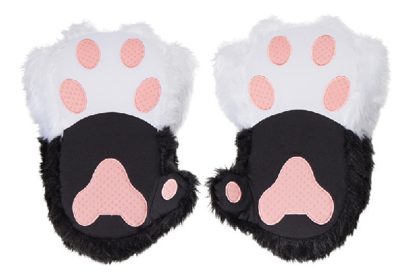 ThinkGeek Twitchy Kitty Paw Slippers.