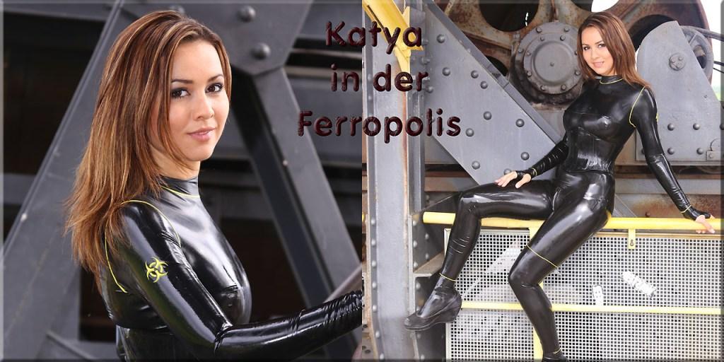 Katya in der Ferropolis