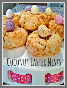 Easy, quick and fun coconut Easter nest treats to make with the kids (or just for yourself!) A great Easter bake and wonderful gift.