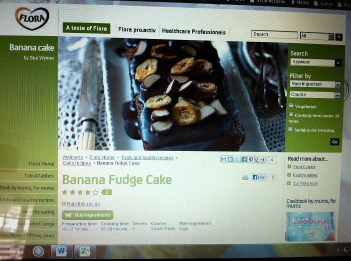 Flora Banana Fudge Cake