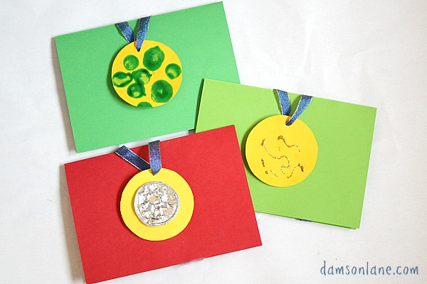 medal fathers day card