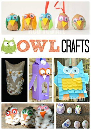 Owl Crafts for Autumn by Red Ted Art