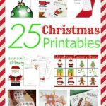 25 Christmas Printables