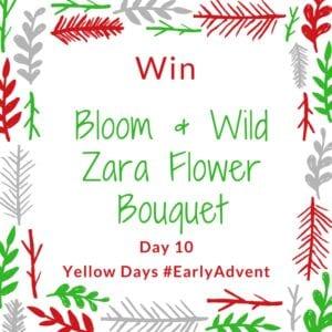 win a bloom and wild zara flower bouquet