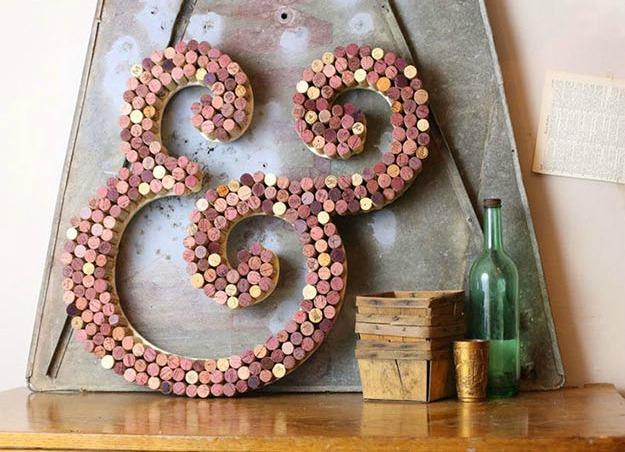 Cork letter craft