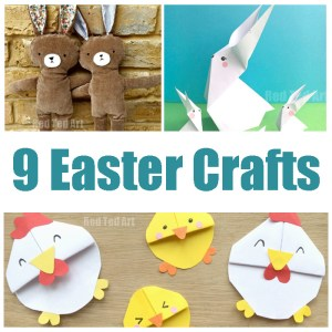 9 fabulous Easter crafts from the Queen of Craftiness, Maggy from Red Ted Art