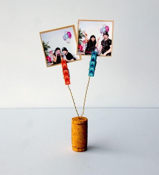 Cork Crafts - Photo holder