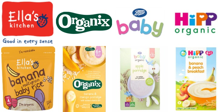 organic baby cereal and baby rice