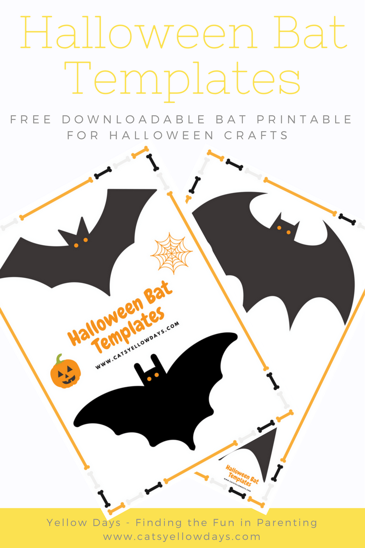 photo relating to Printable Holloween Crafts identified as Absolutely free printable Halloween Bat Slash Out Template for Crafts and