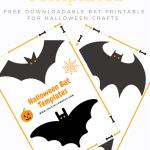Free printable Halloween Bat Templates